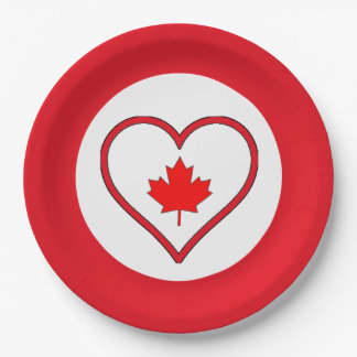 Our Hearts Canada Day Party Paper Plates