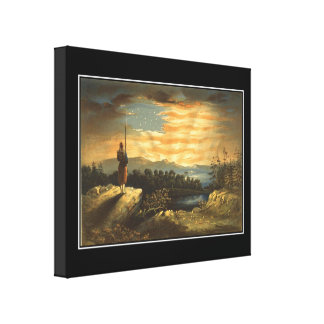 Our Heavenly Flag Wrapped Canvas Prints