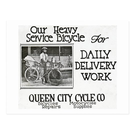Our Heavy Service Bicycle - Vintage Americana Postcard