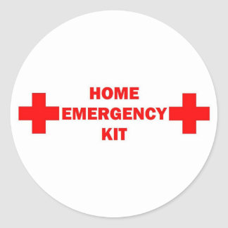 Our Home Emergency Kit Classic Round Sticker