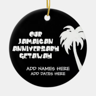 Our Jamaican Anniversary Christmas Ornament