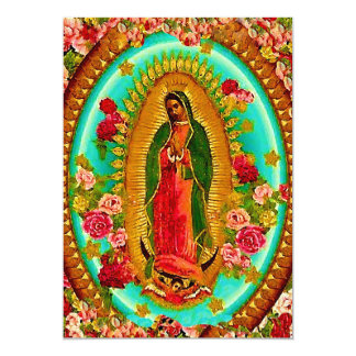 Our Lady Guadalupe Mexican Saint Virgin Mary 13 Cm X 18 Cm Invitation Card