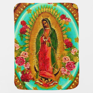 Our Lady Guadalupe Mexican Saint Virgin Mary Baby Blanket