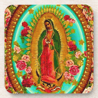 Our Lady Guadalupe Mexican Saint Virgin Mary Beverage Coasters