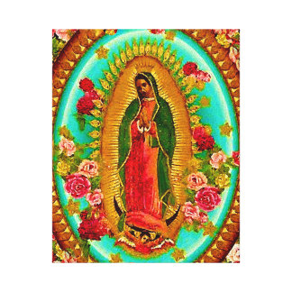 Our Lady Guadalupe Mexican Saint Virgin Mary Canvas Print