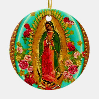 Our Lady Guadalupe Mexican Saint Virgin Mary Christmas Ornament