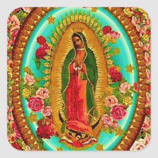 Our Lady Guadalupe Mexican Saint Virgin Mary Square Sticker