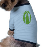 OUr Lady Guadalupe Modern lime green Pet Tee