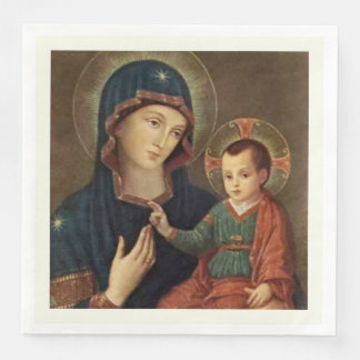 Our Lady of Consolation Virgin Mary Jesus Paper Napkin