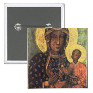 Our Lady of Czestochowa 15 Cm Square Badge
