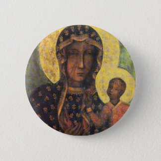 Our Lady of Czestochowa 6 Cm Round Badge