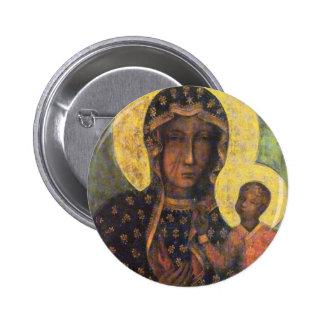 Our Lady of Czestochowa 6 Cm Round Badge