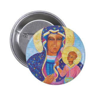 Our Lady of Czestochowa Black Madonna Poland 6 Cm Round Badge