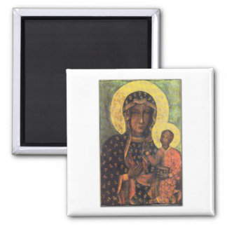 Our Lady of Czestochowa Square Magnet