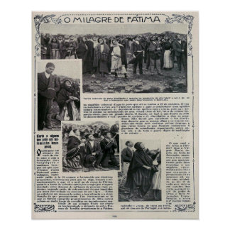 Our Lady of Fatima Miracle Newspaper Portuguese Poster
