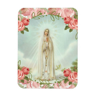 Our Lady of Fatima Pink Roses Magnet