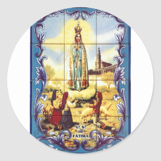 Our Lady of Fatima Round Sticker