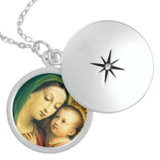 our lady of good counsel sterling silver necklace