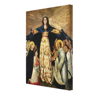 Our Lady of Grace and the Masters of the Order of Canvas Print