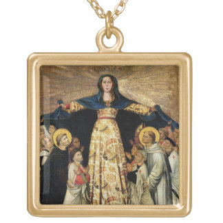 Our Lady of Grace and the Masters of the Order of Gold Plated Necklace