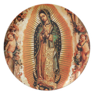 Our Lady of Guadalupe and the Angels Plate