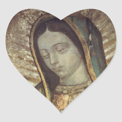 OUR LADY OF GUADALUPE HEART STICKER