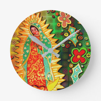 Our Lady of Guadalupe Mexico Wall Clock