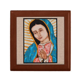 Our Lady of Guadalupe Treasure Box Small Square Gift Box