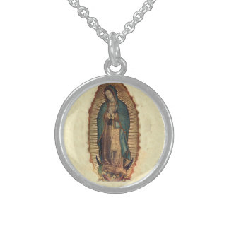 Our Lady Of Guadalupe Virgin Mary Sterlng Silver Sterling Silver Necklace