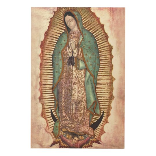 OUR LADY OF GUADALUPE WOOD WALL ART