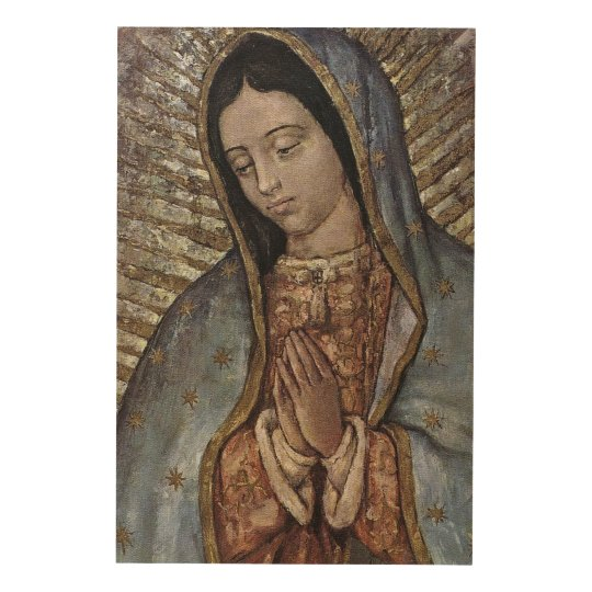 Our Lady of Guadalupe. Wood Wall Decor
