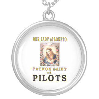 OUR LADY of LORETO Silver Plated Necklace
