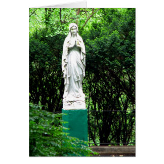 Our Lady Of Lourdes Blank Card