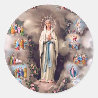 Our Lady of Lourdes Round Sticker