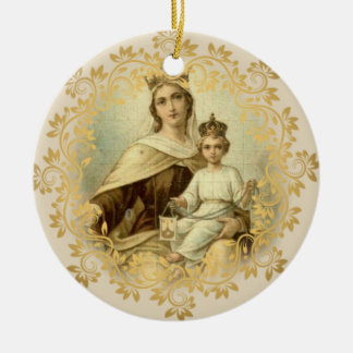 Our Lady of Mount Carmel  Baby Jesus Scapular Christmas Ornament