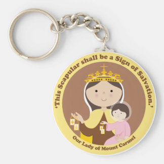 Our Lady of Mount Carmel Key Ring