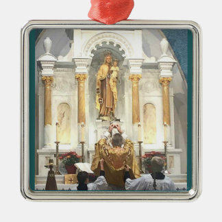 Our Lady of Mount Carmel Traditional Latin Mass Christmas Ornament
