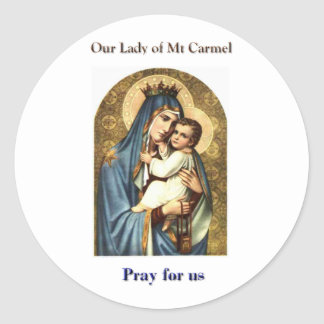 Our Lady of Mt Carmel Stickers