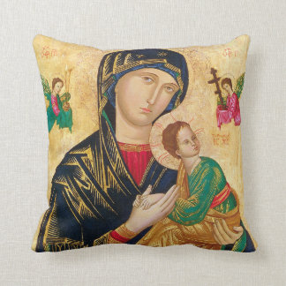 Our Lady of Perpetual Help & Padre Pio Pillow