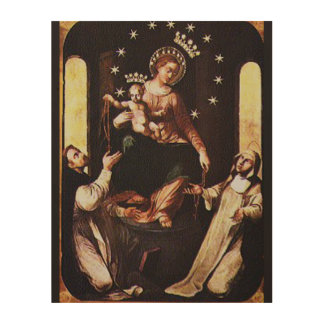 OUR LADY OF POMPEII WOOD WALL DECOR