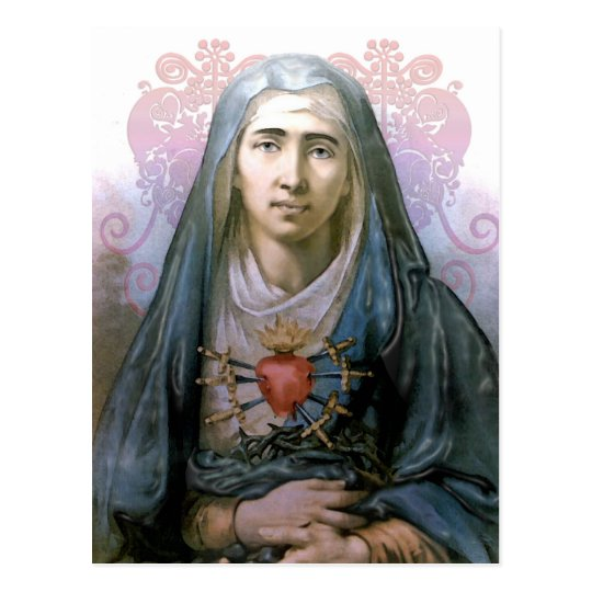 Our Lady of Sorrows Holy Card