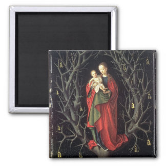Our Lady of the Dry Tree c.1450 (oil on panel) Square Magnet
