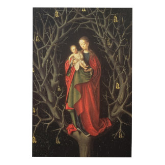 Our Lady of the Dry Tree c.1450 (oil on panel) Wood Print