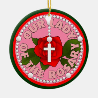Our Lady of the Rosary Christmas Ornament