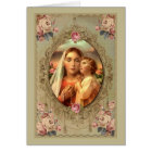 Our Lady of the Rosary w/Baby Jesus roses Card
