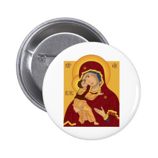 Our Lady of the Vladimir 6 Cm Round Badge