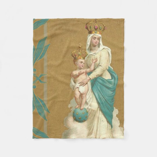 Our Lady of Victory Child Jesus Fleece Blanket