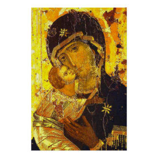 Our Lady of Vladimir Virgin Mary Icon 24x36 Poster
