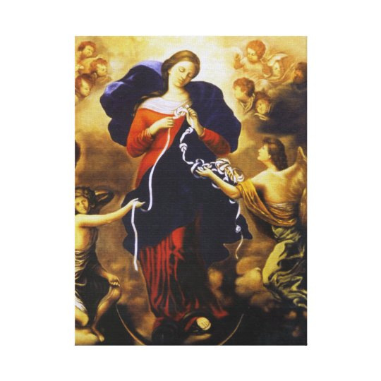 OUR LADY UNDOER OF KNOTS CANVAS PRINT