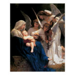 Our Lady Virgin Mary Song of Angels Print Poster